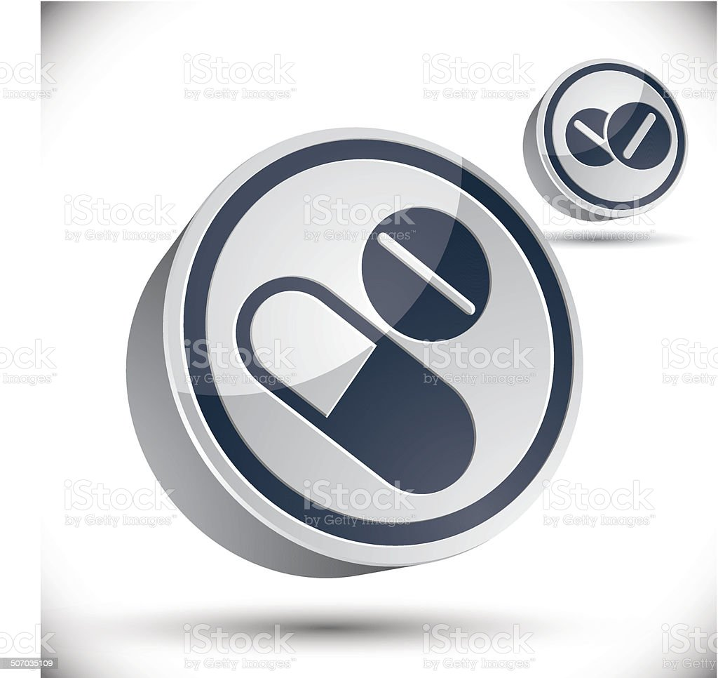 Medical pills 3d vector icon. royalty-free stock vector art