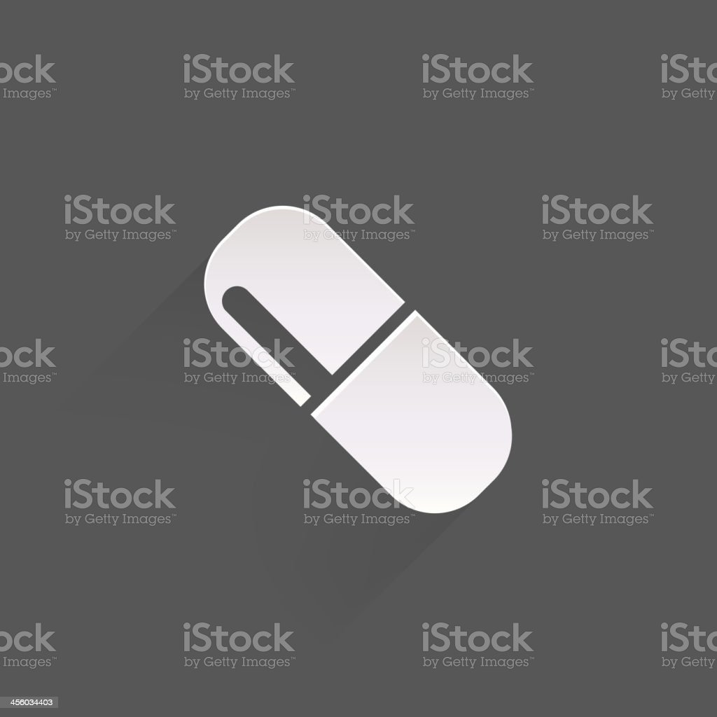 Medical pills icon royalty-free stock vector art