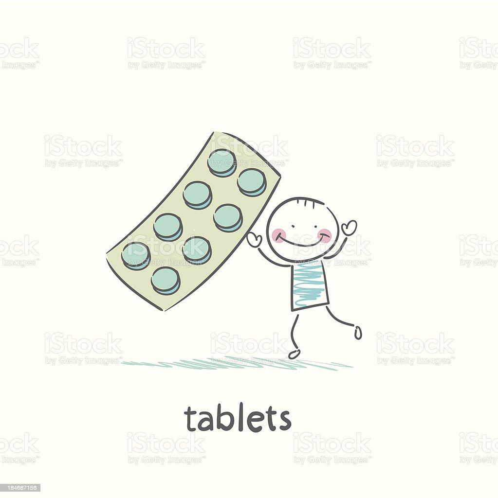 Medical pills royalty-free stock vector art