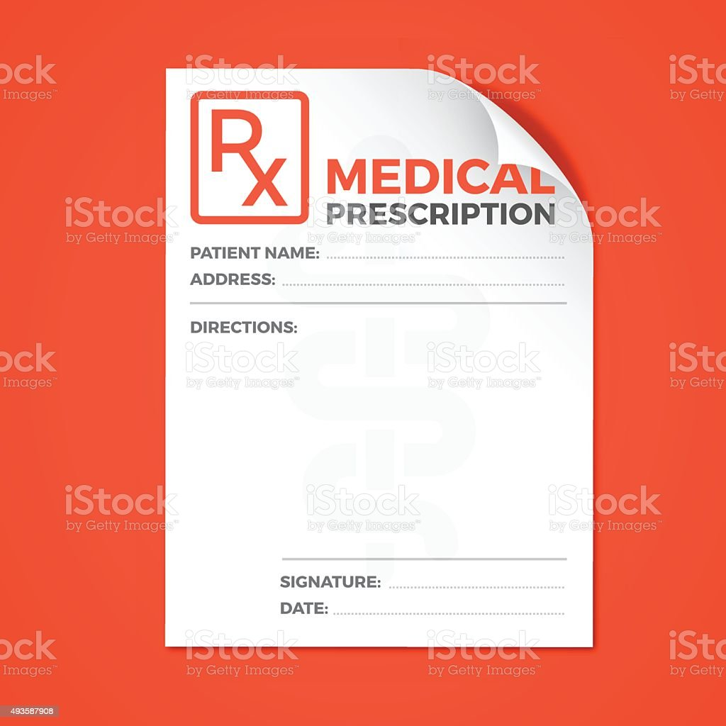 Medical Prescription vector art illustration