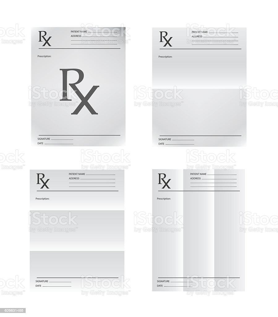 Medical prescription vector art illustration