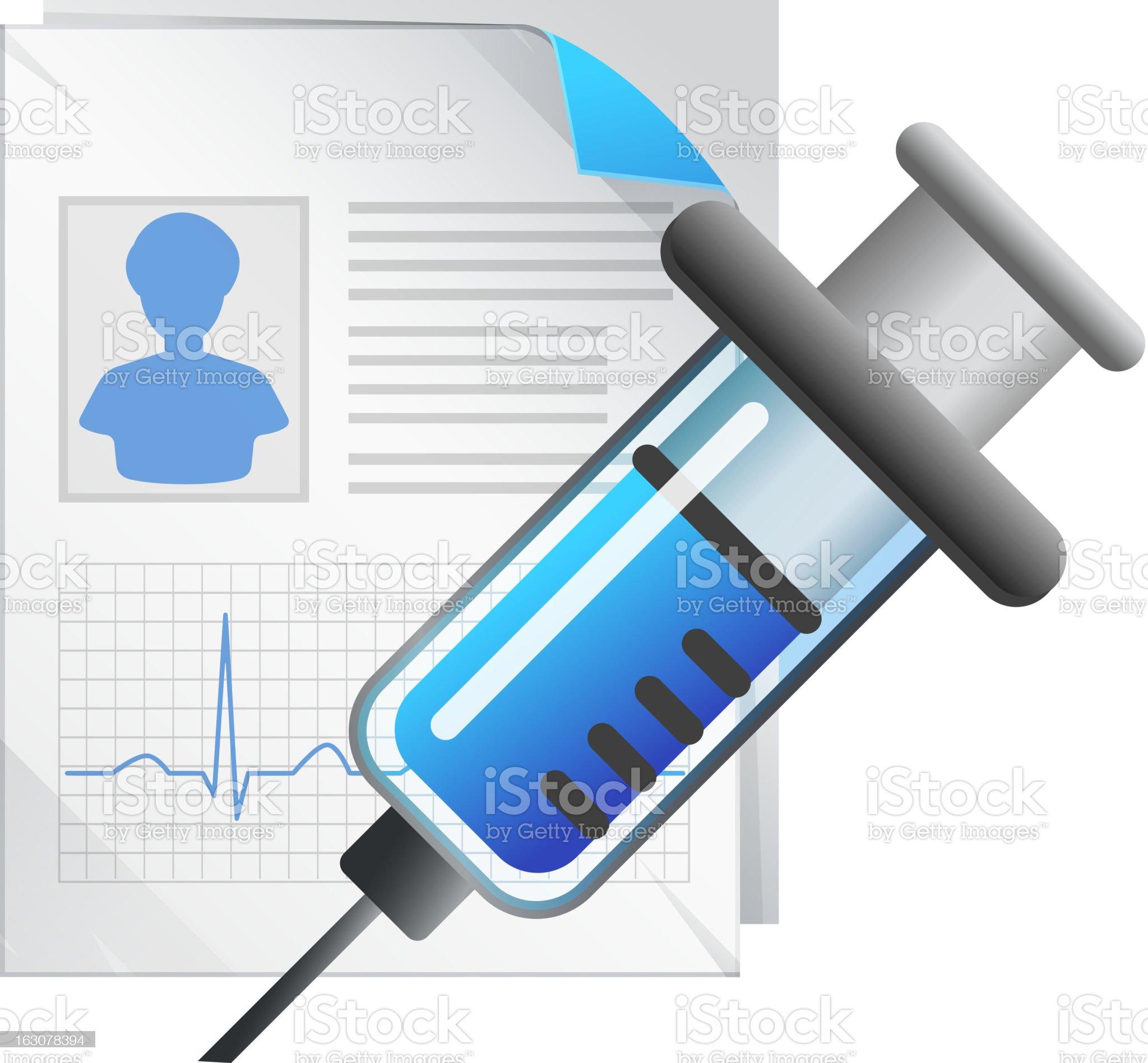 Medical Record royalty-free stock vector art