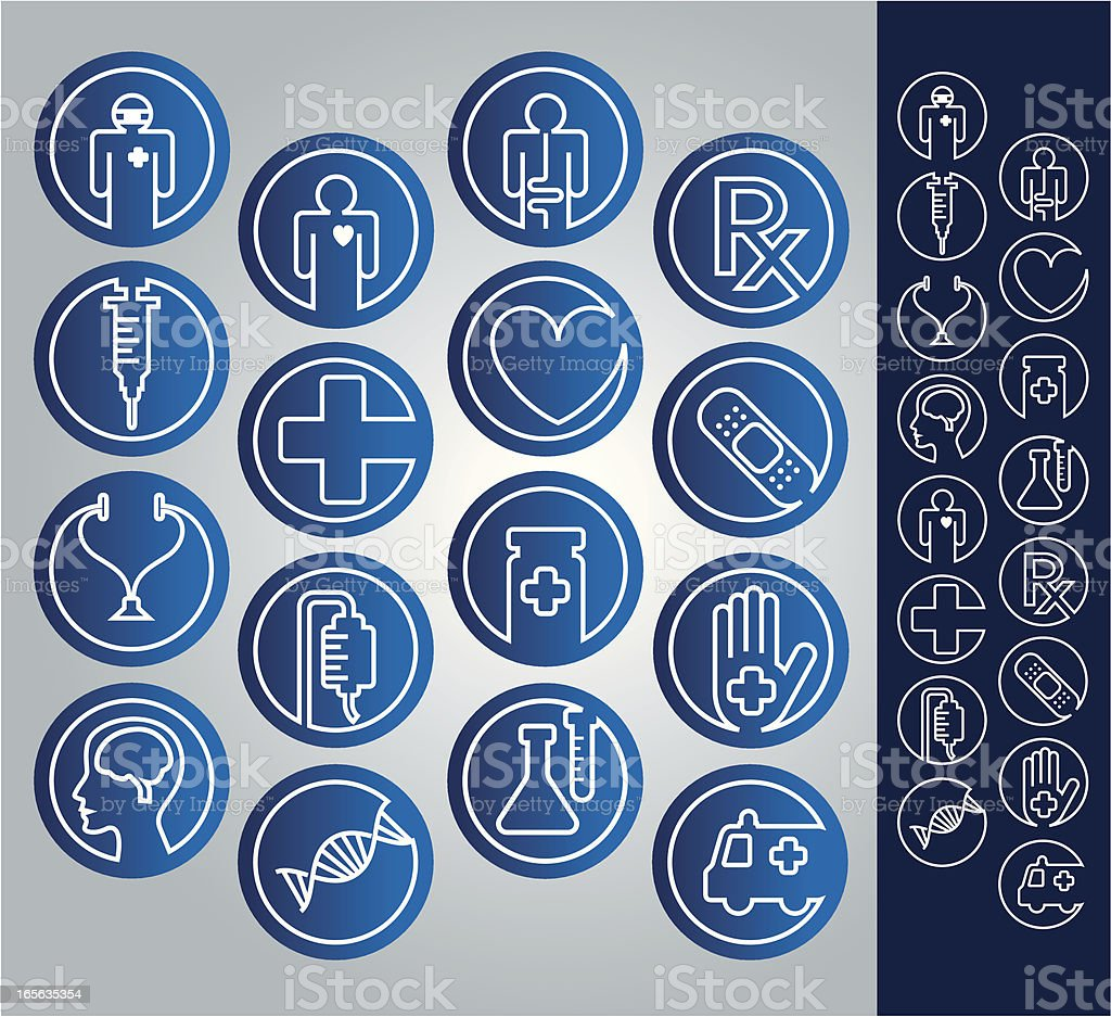 Medical related Icon Set royalty-free stock vector art