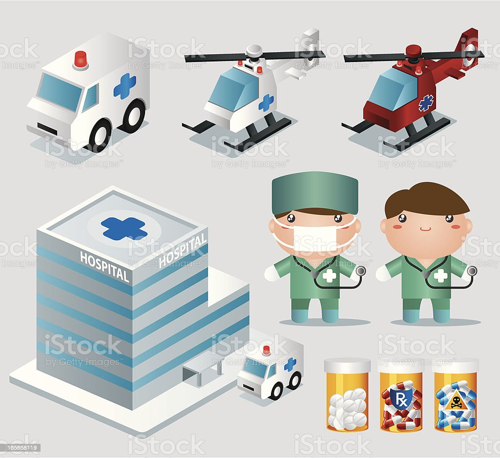 Medical related Icon Set vector art illustration