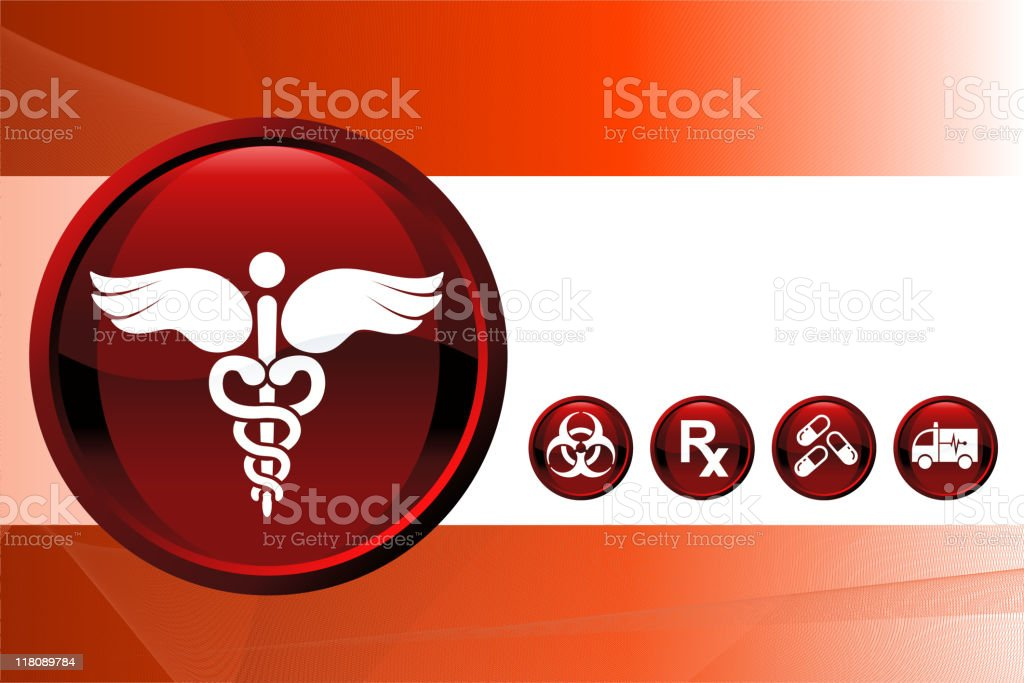 Medical report Background royalty-free stock vector art