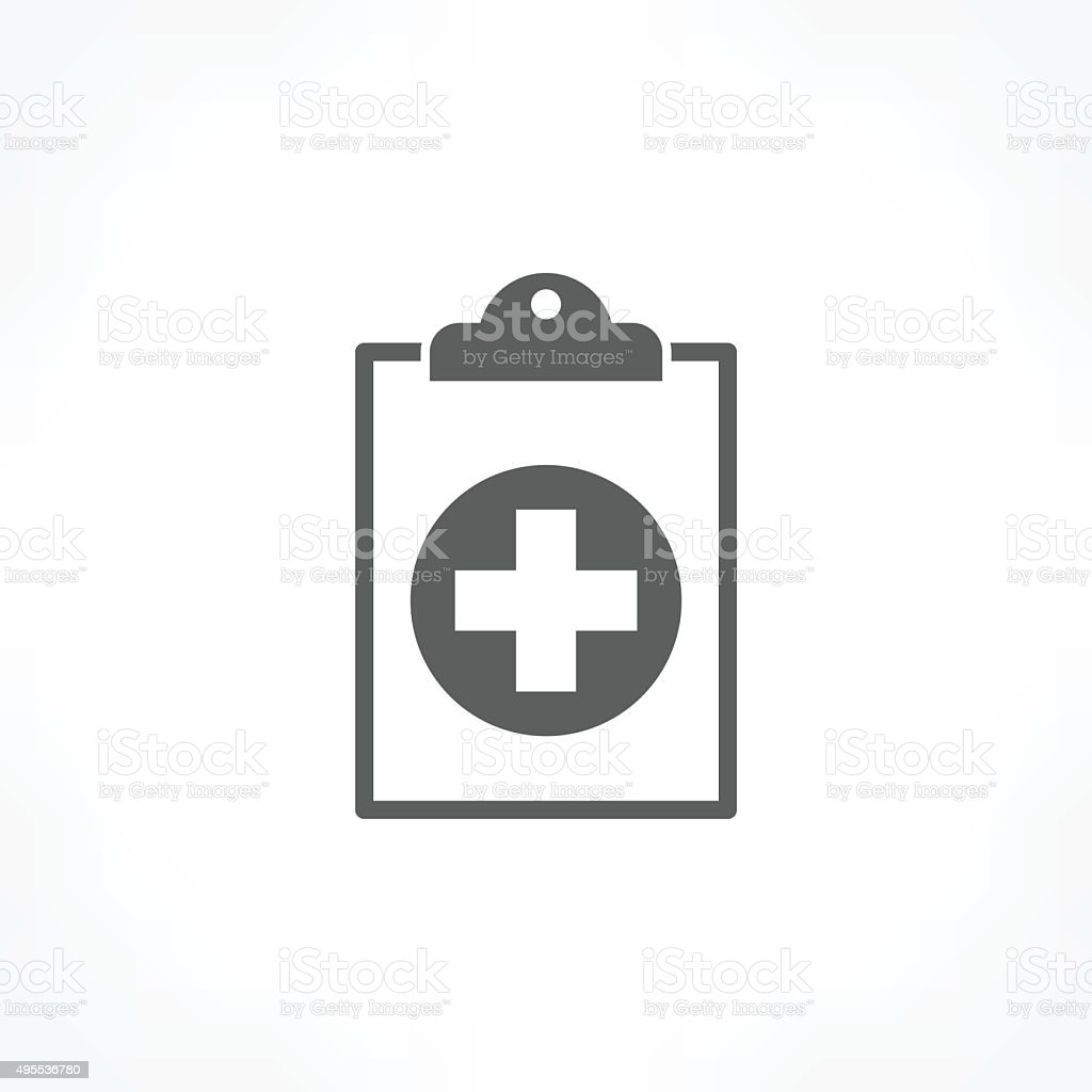 medical report icon vector art illustration