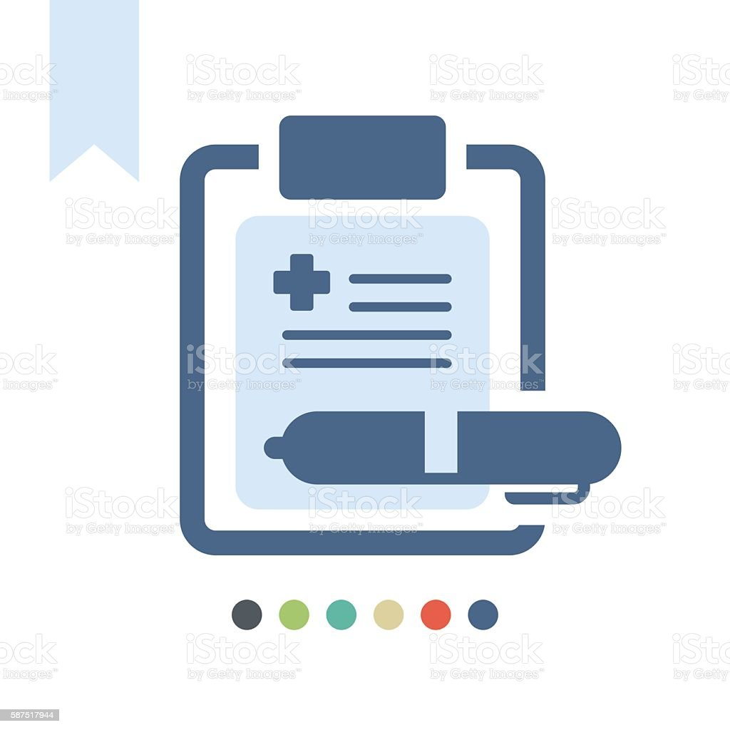 medical report icon vector art illustration