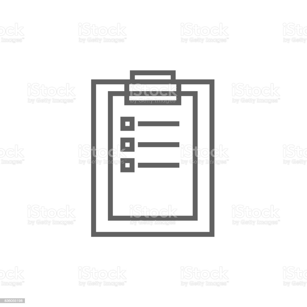 Medical report line icon vector art illustration