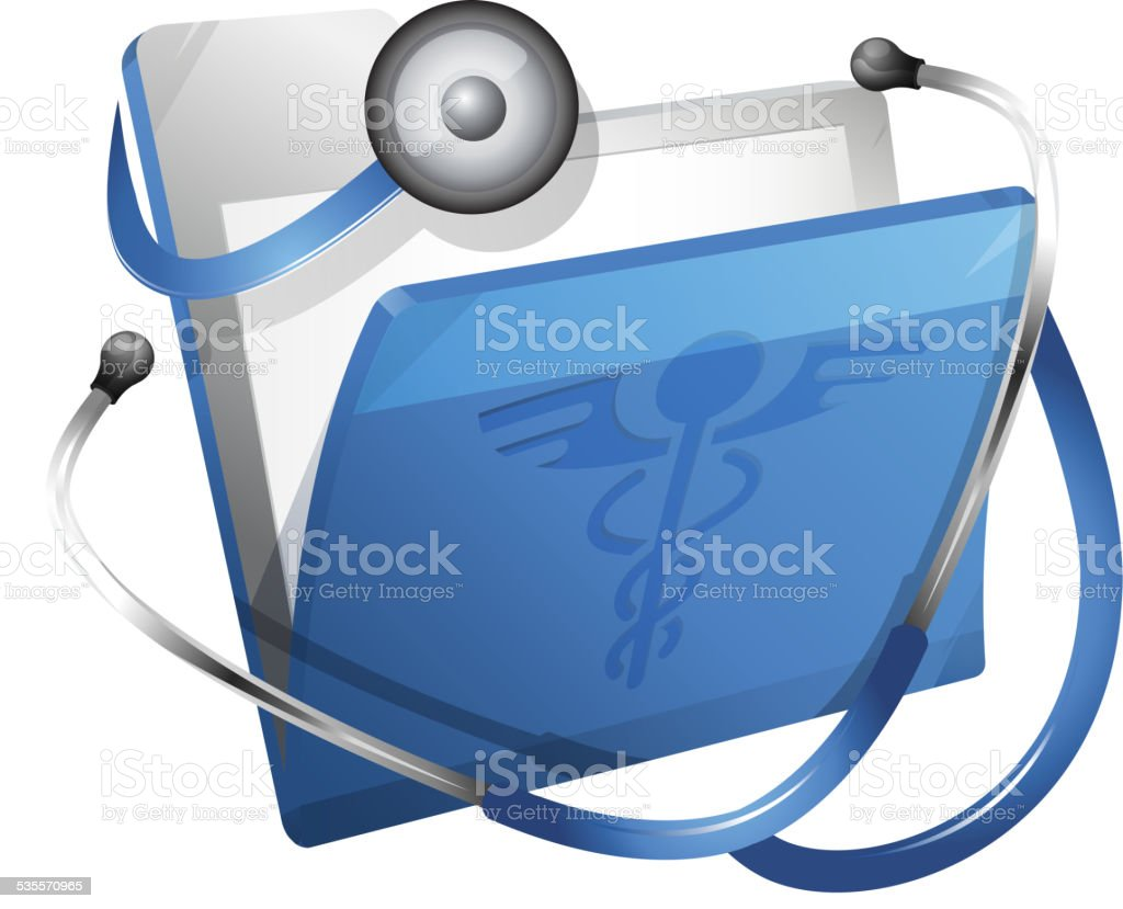 Medical Report vector art illustration