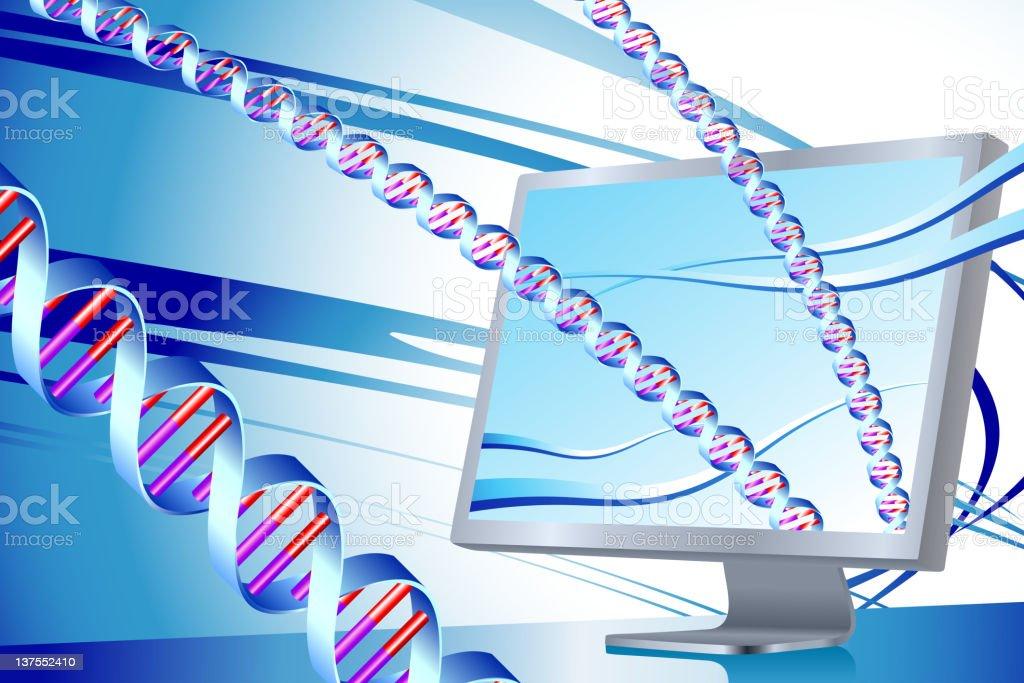 Medical research via internet royalty-free stock vector art