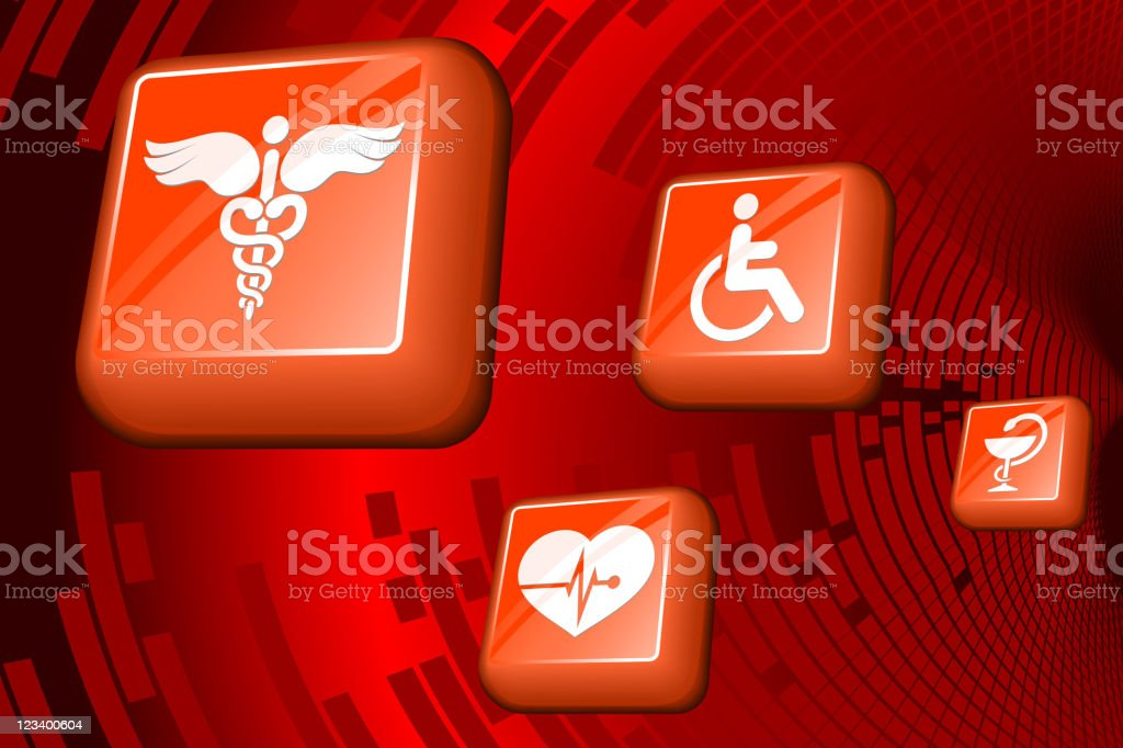 medical royalty free vector arts on red Background royalty-free stock vector art