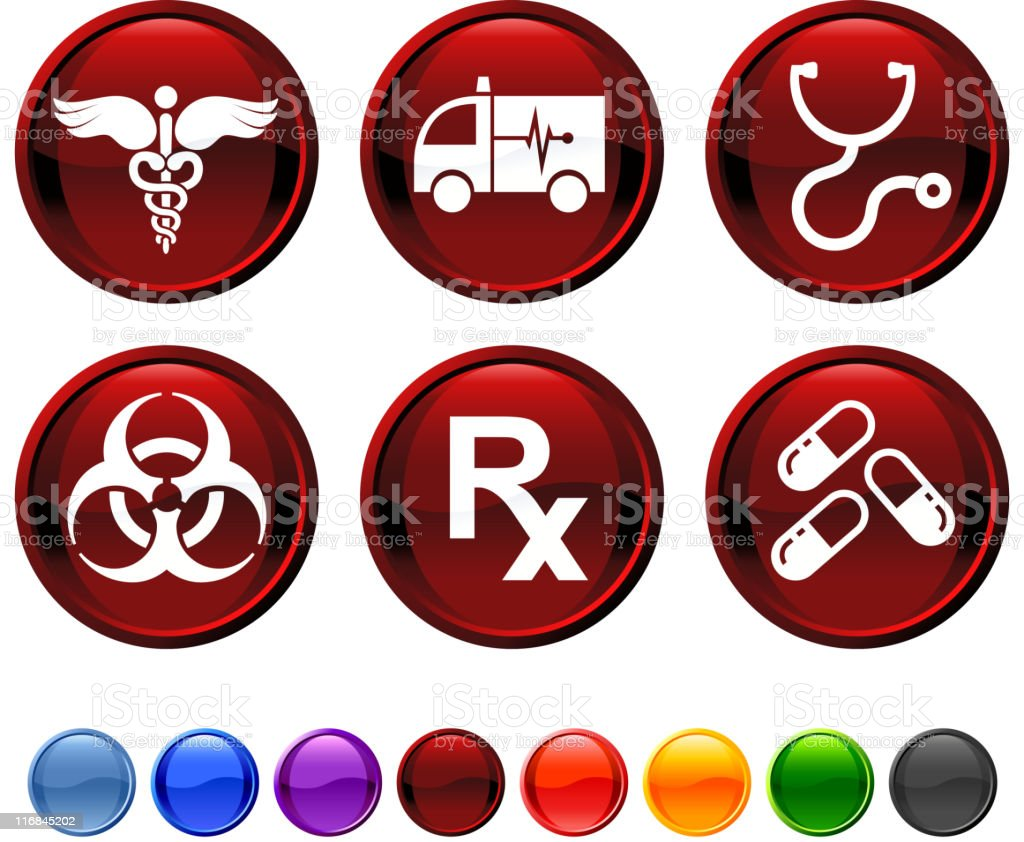 Medical royalty free vector icon set stock vector art 116845202 narcotic pharmacy rx stethoscope symbol medical buycottarizona