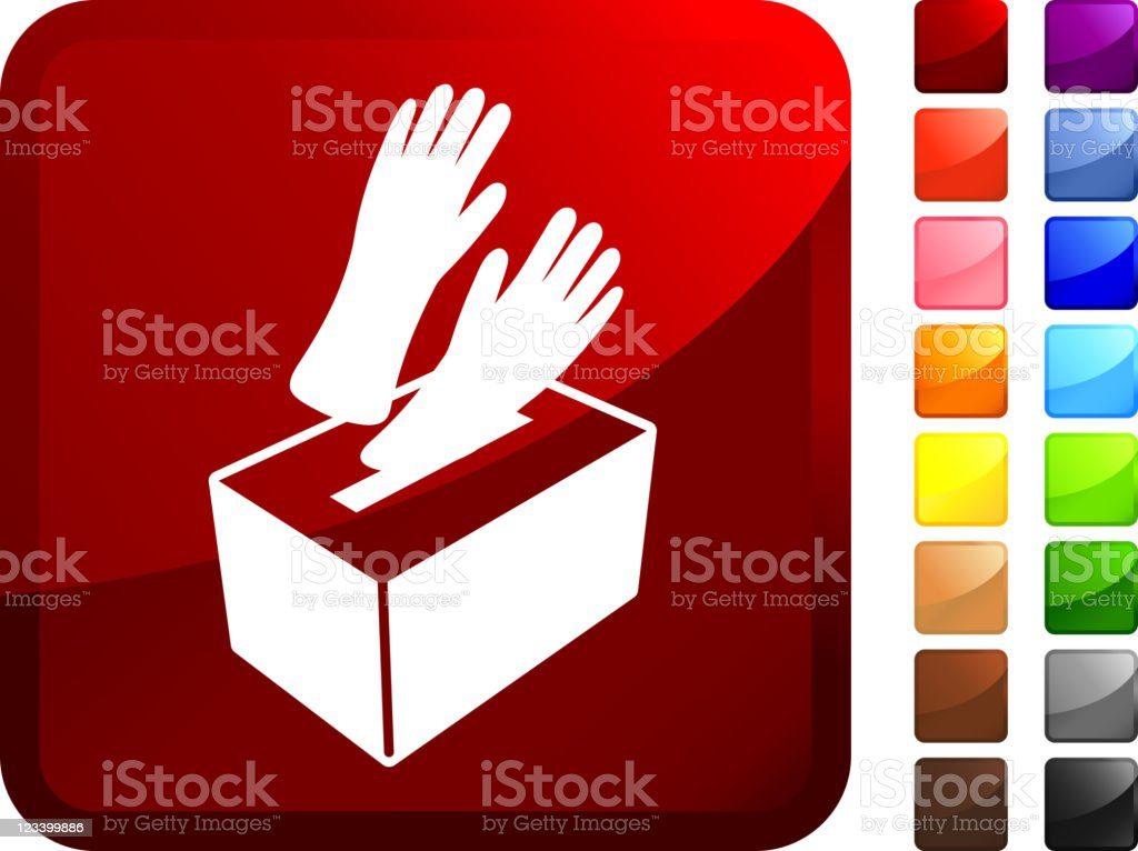 medical rubber gloves in a box internet Vector Icon vector art illustration