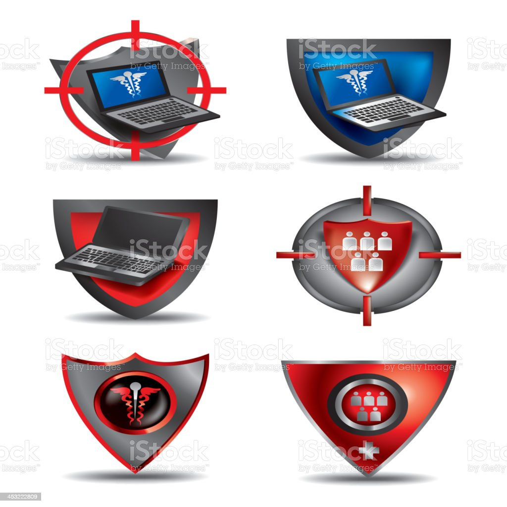 Medical Security royalty-free stock vector art
