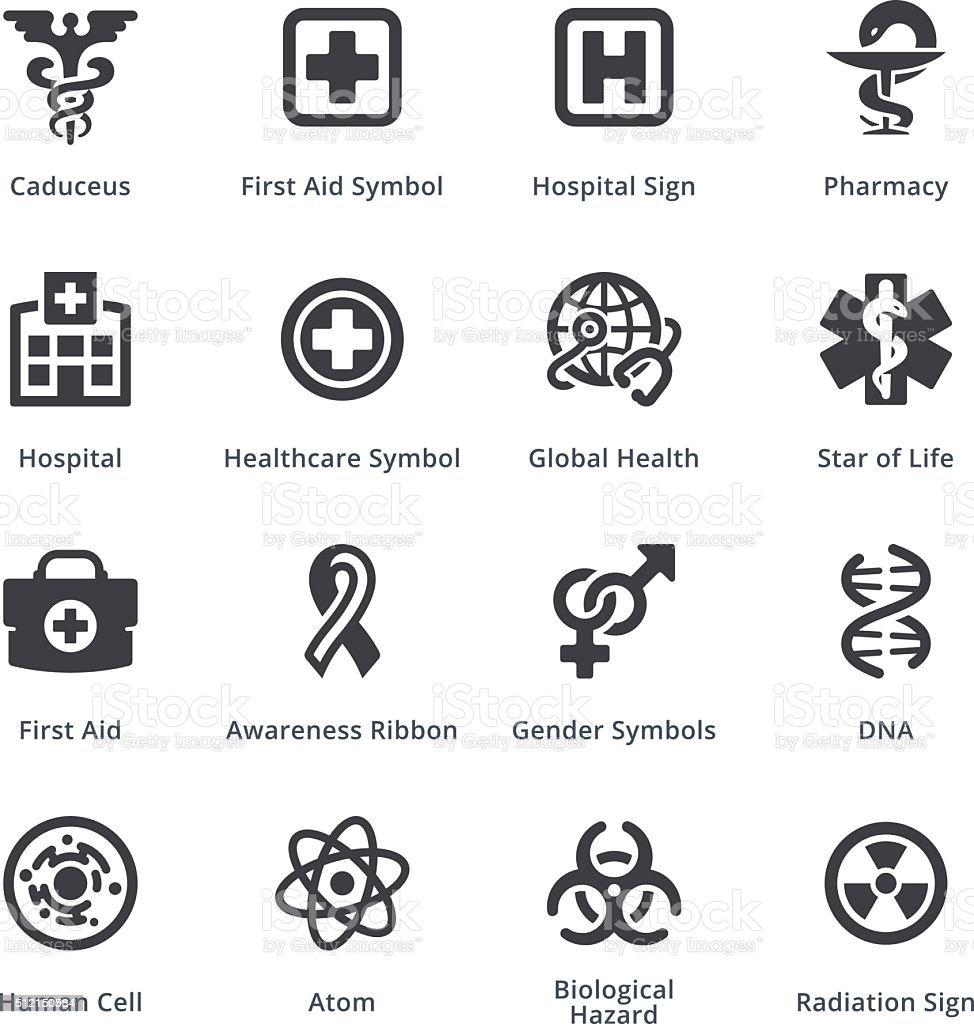 Medical Services Icons Set 1 - Sympa Series | Black vector art illustration