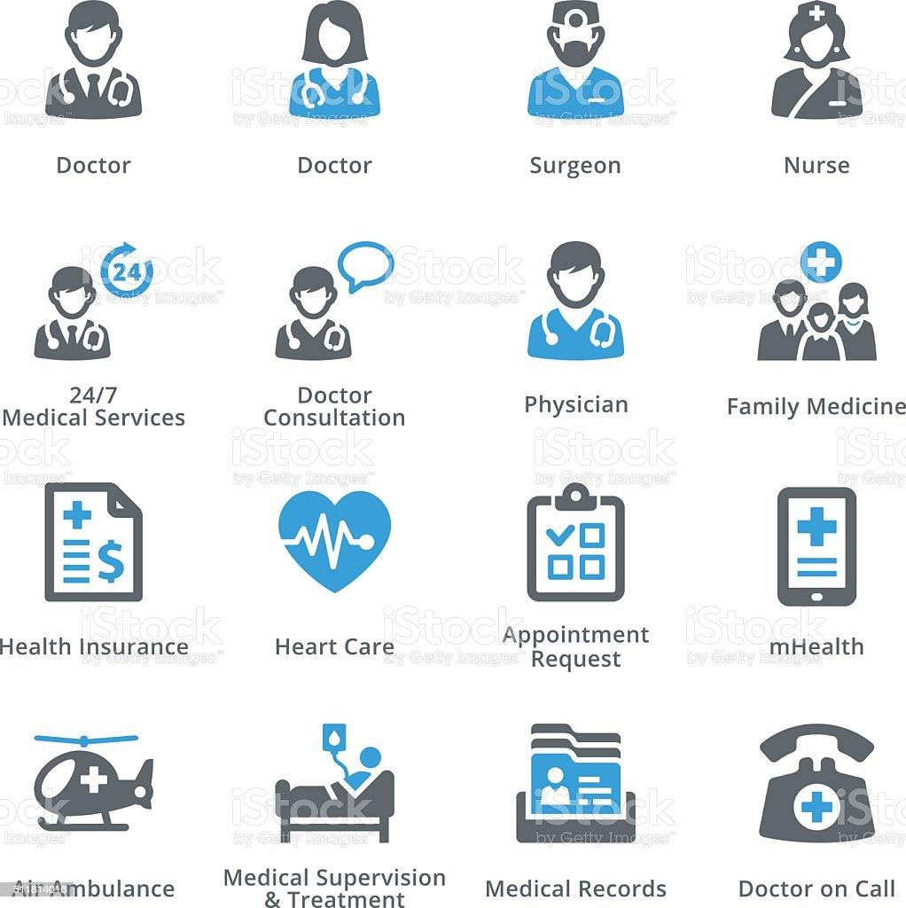 Medical Services Icons Set 1 - Sympa Series vector art illustration