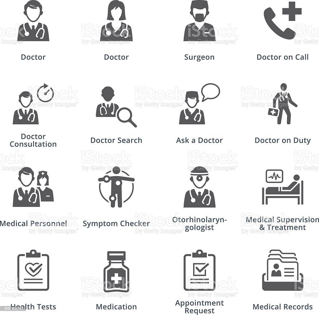 Medical Services Icons Set 3 - Black Series vector art illustration