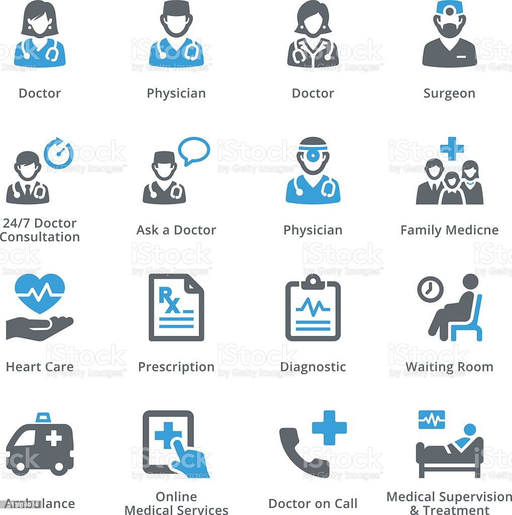 Medical Services Icons Set 3 - Sympa Series vector art illustration