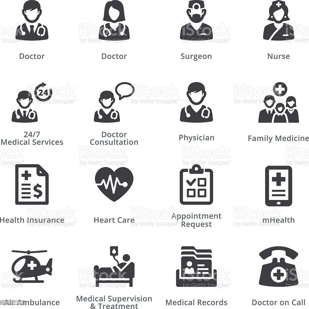 Medical Services Set 1 - Sympa Series | Black vector art illustration