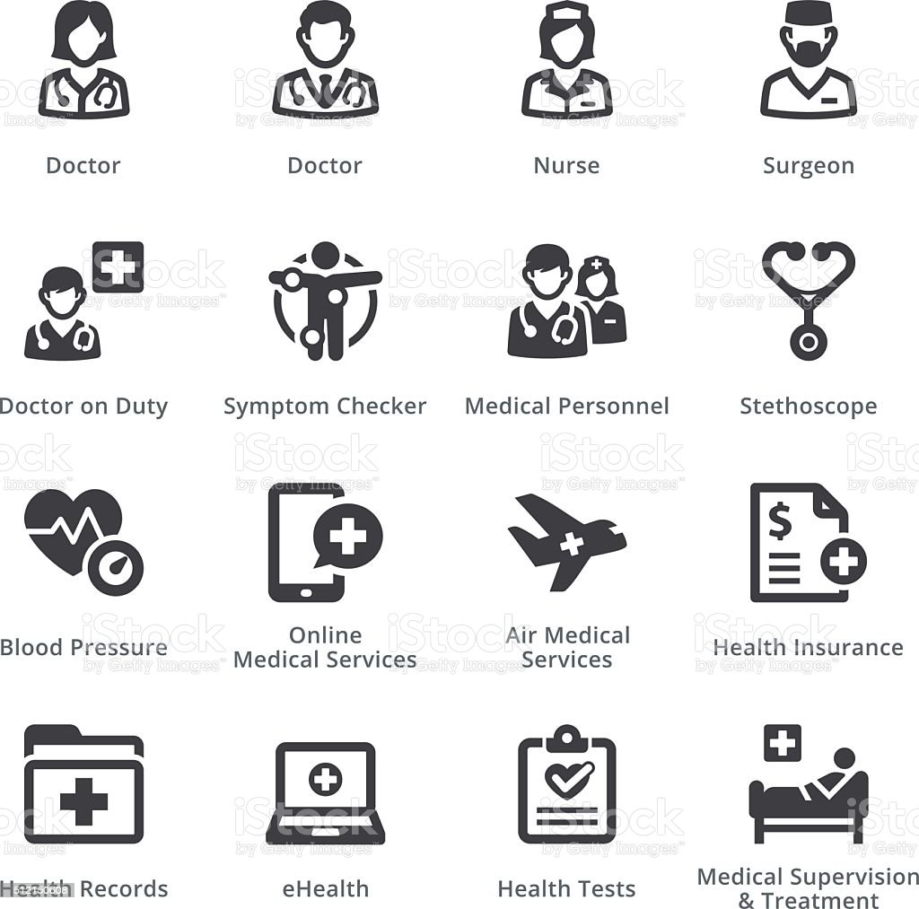 Medical Services Set 2 - Sympa Series   Black vector art illustration