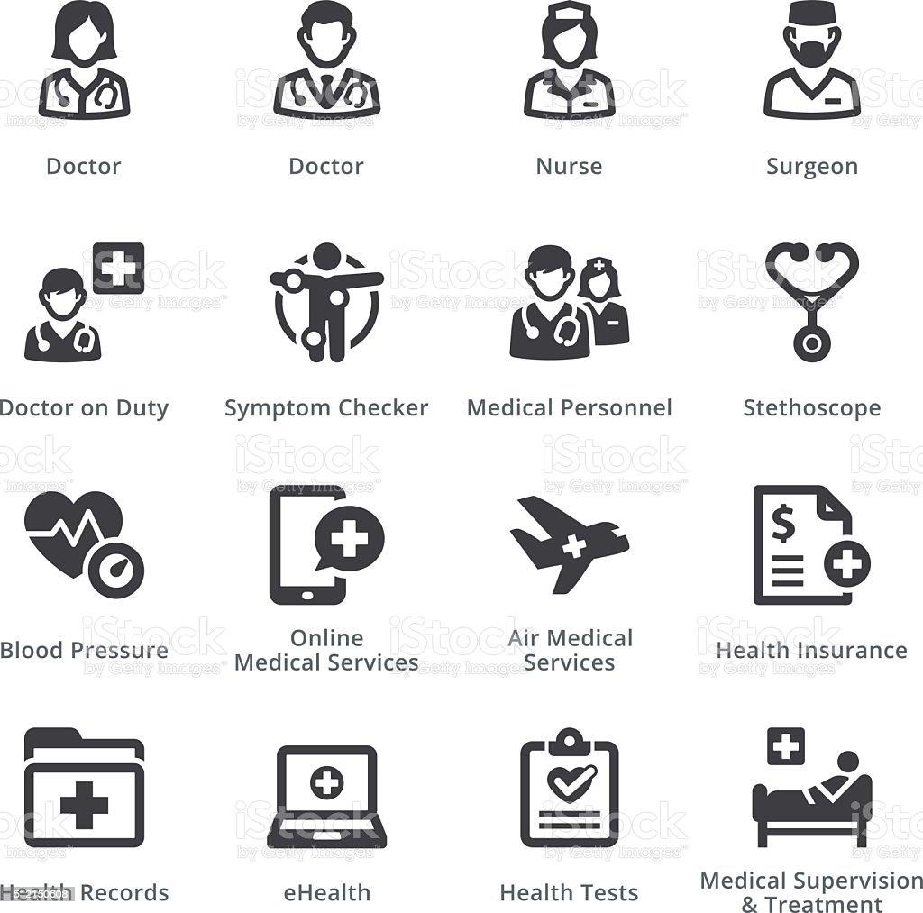 Medical Services Set 2 - Sympa Series | Black vector art illustration