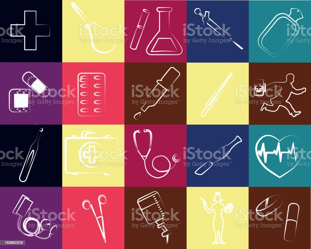 medical set royalty-free stock vector art