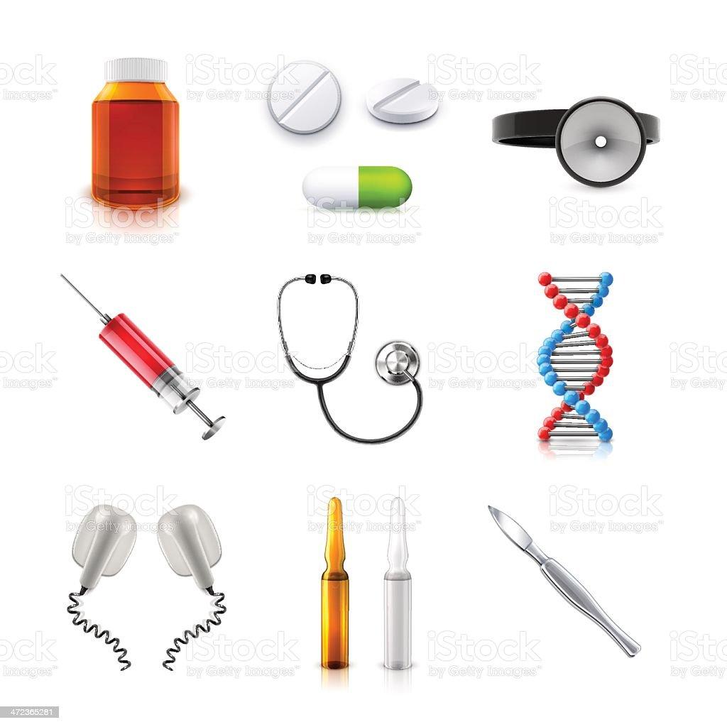 Medical set vector art illustration
