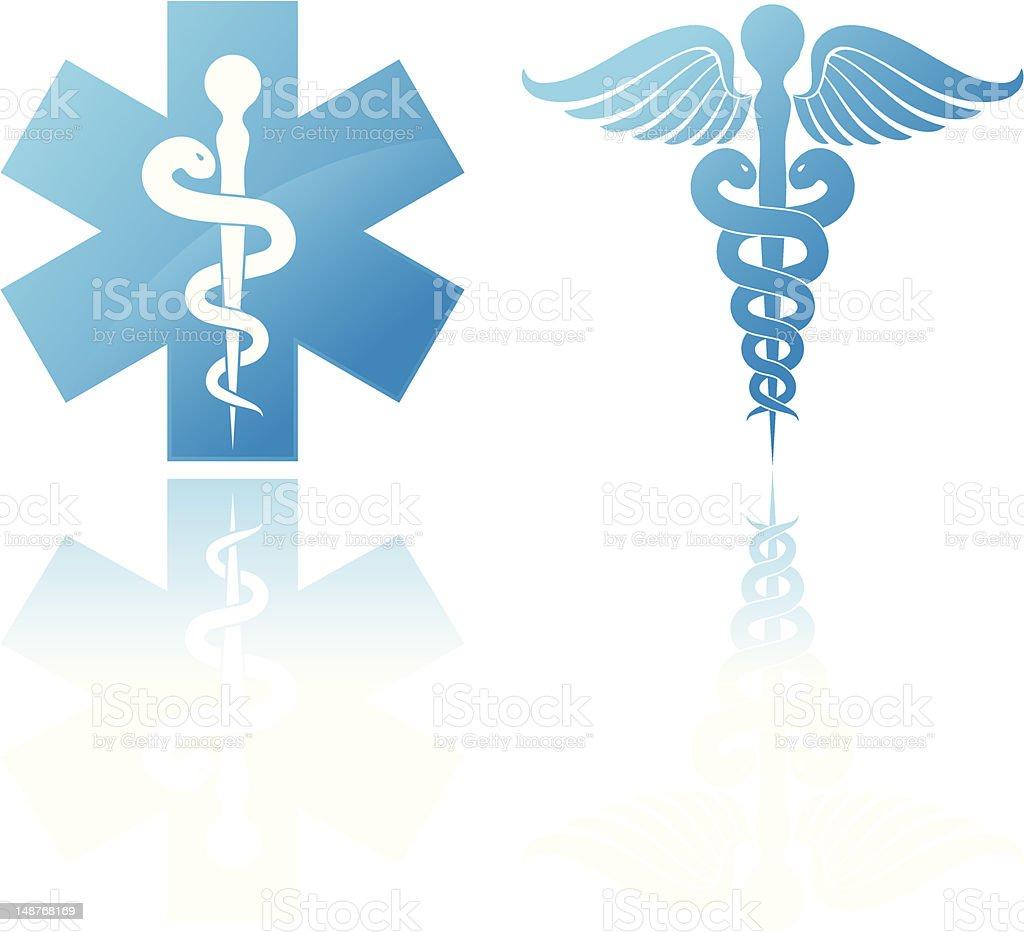 Medical signs vector art illustration