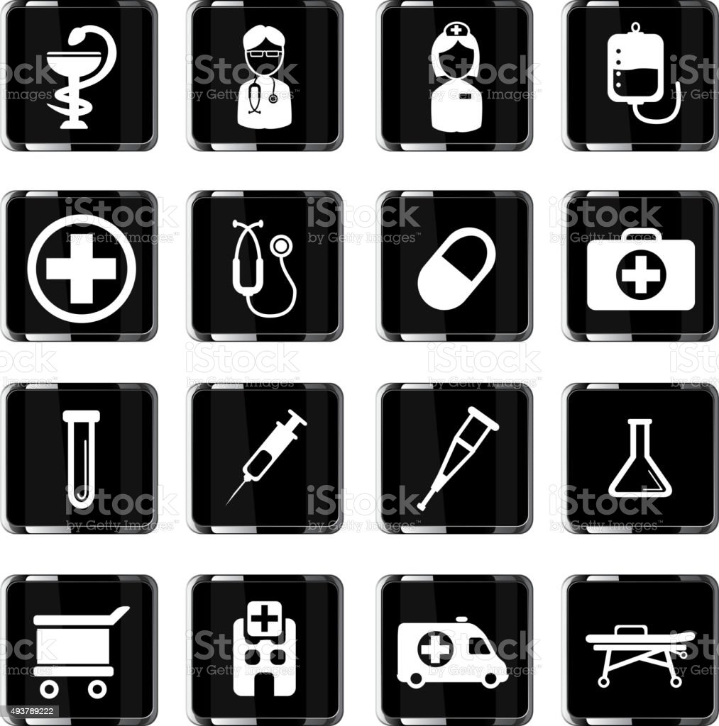 Medical simply icons vector art illustration