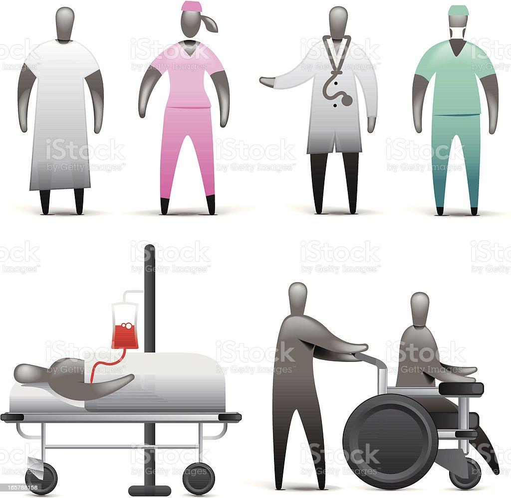 Medical Staff royalty-free stock vector art