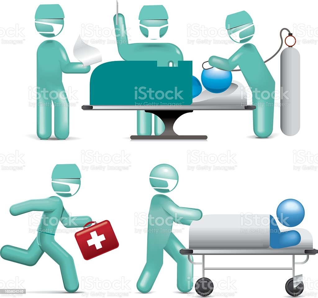 Medical Staff royalty-free stock vector art