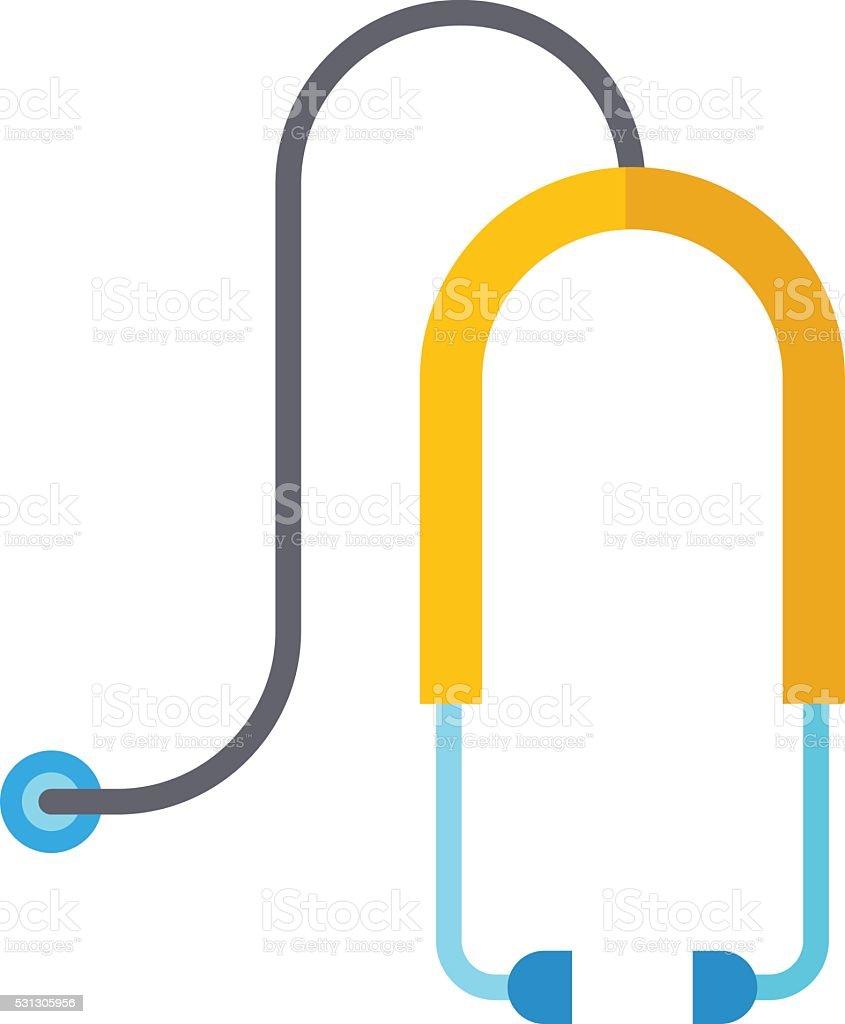 Medical stethoscope or phonendoscope isolated on white background vector art illustration