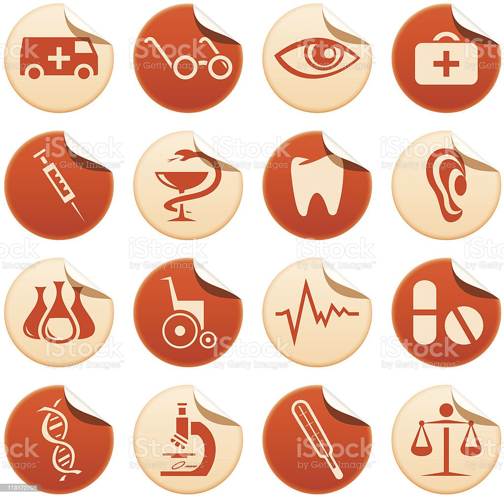 Medical stickers royalty-free stock vector art