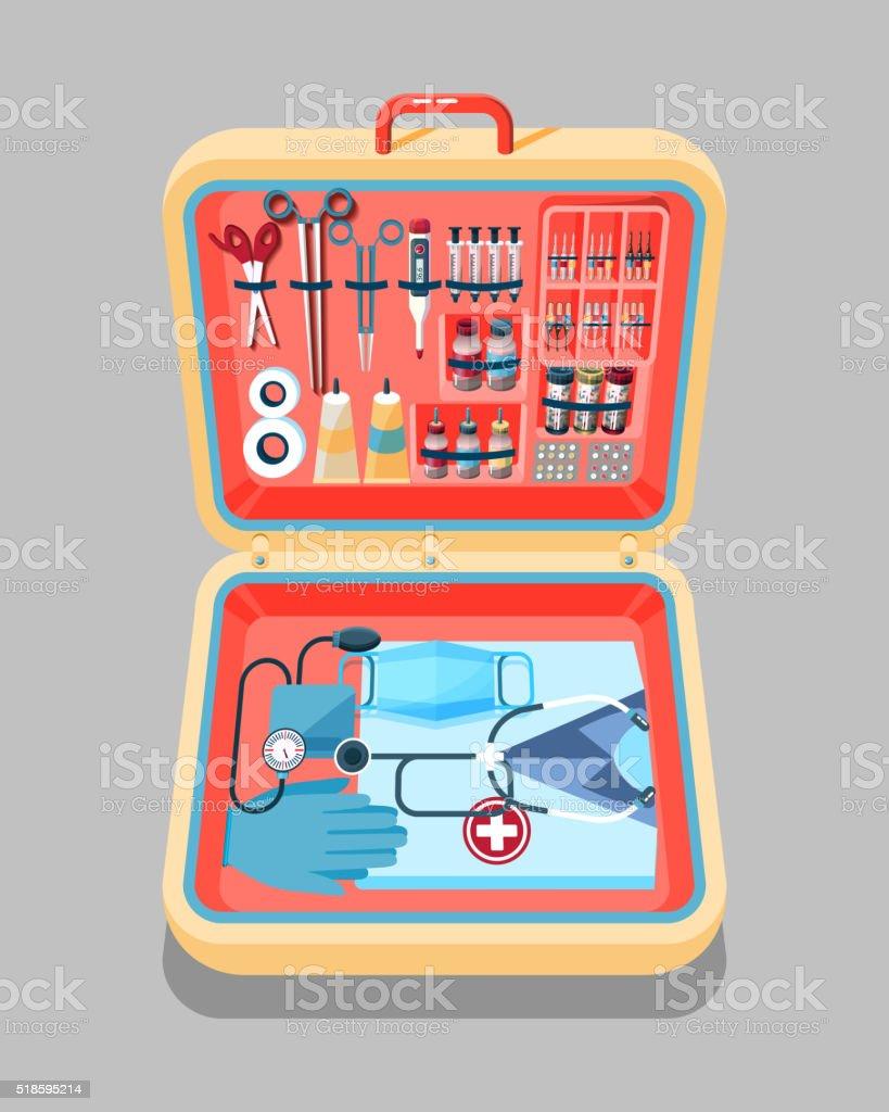 Медицынские чемоданы как в скорых детские чемоданы disney kitty