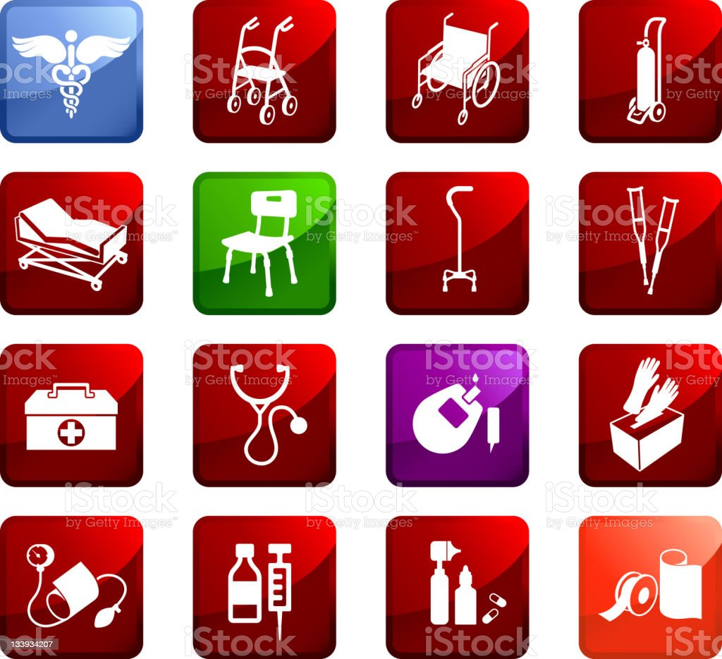 medical supplies royalty free vector icon set vector art illustration