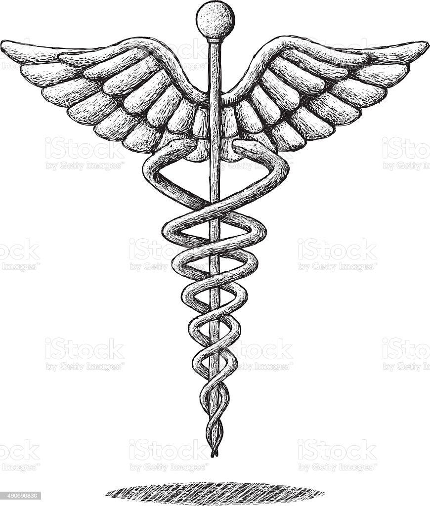 Medical Symbol Drawing vector art illustration