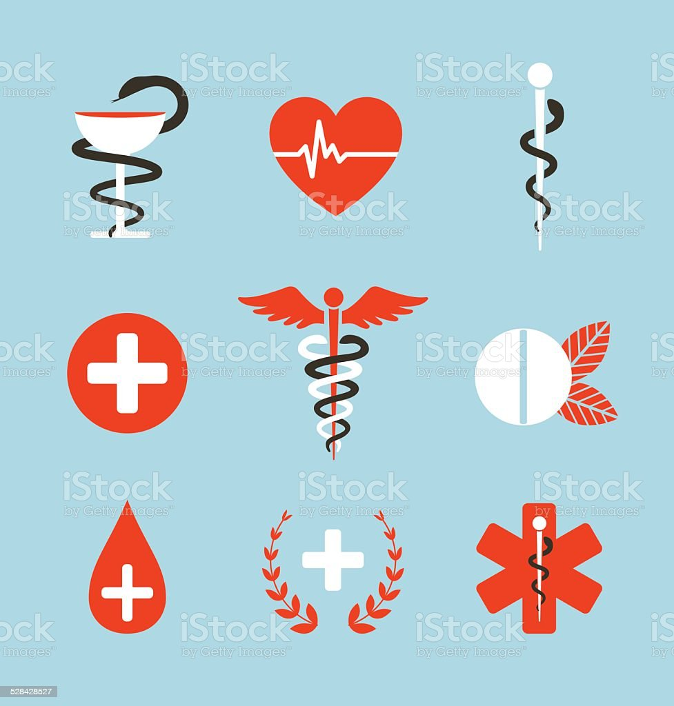 Medical Symbols Emblems and Signs Collection vector art illustration