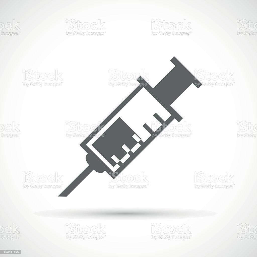 Medical syringe icon vector art illustration