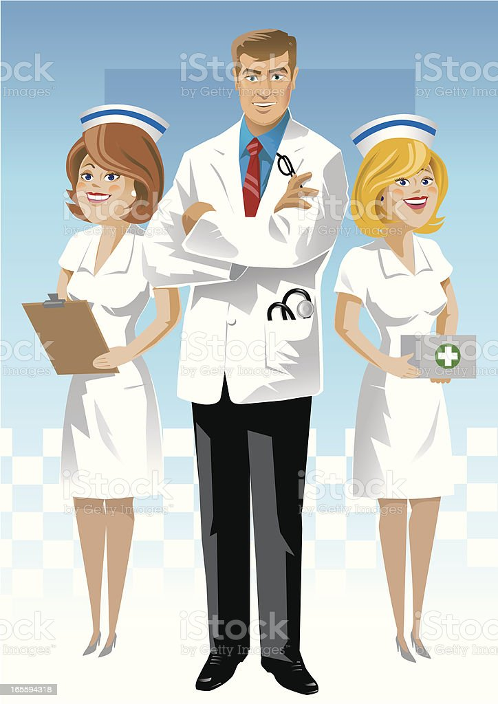 Medical Team royalty-free stock vector art