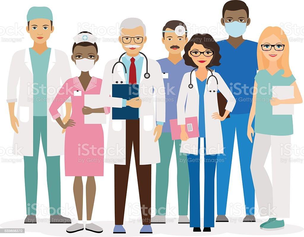 Medical team vector illustration vector art illustration