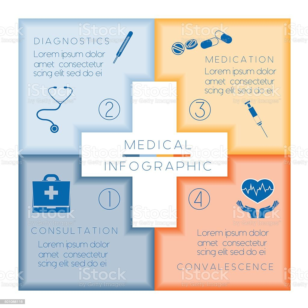 Medical template infographic vector art illustration