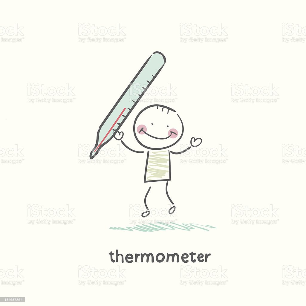 medical thermometer royalty-free stock vector art