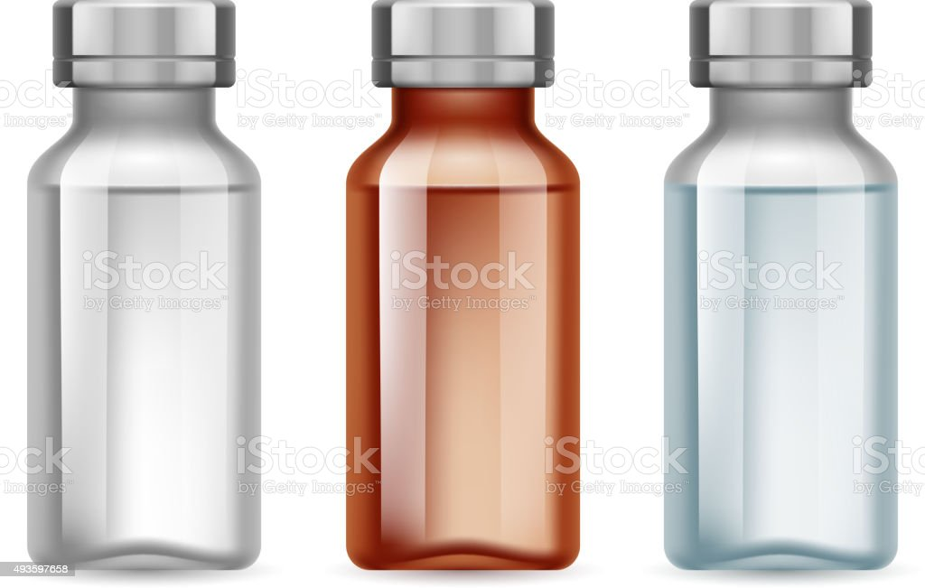 Medical vials vector art illustration