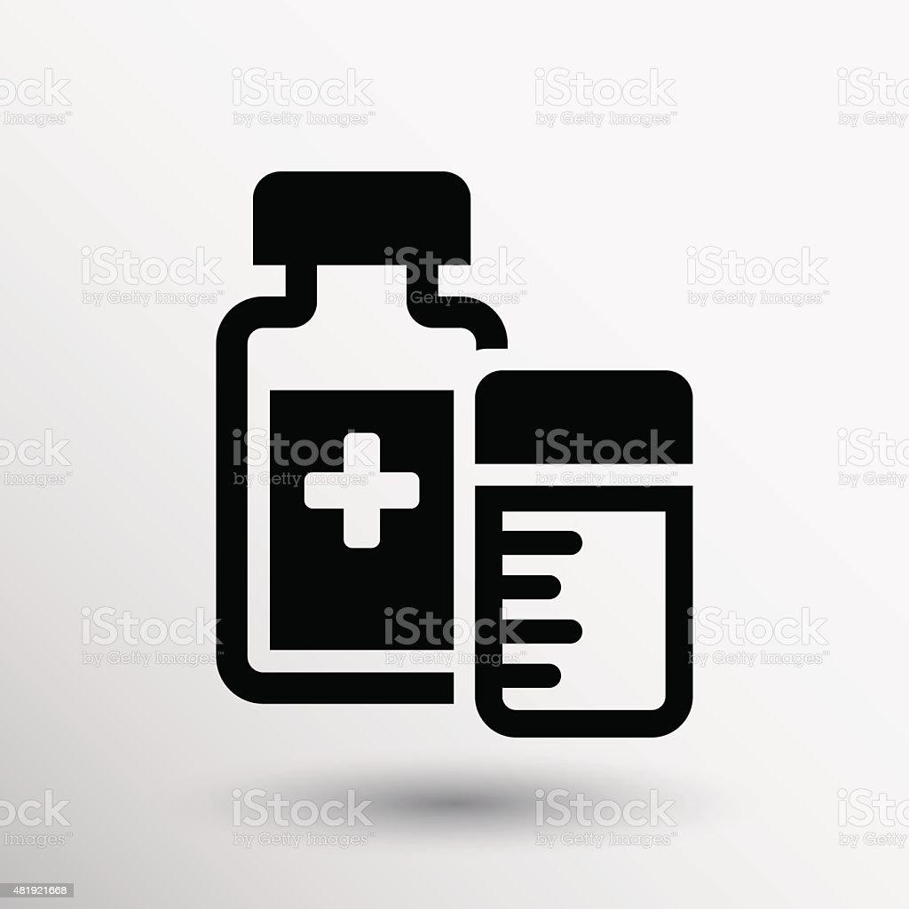 medication icon vector chemistry Flat design style vector art illustration