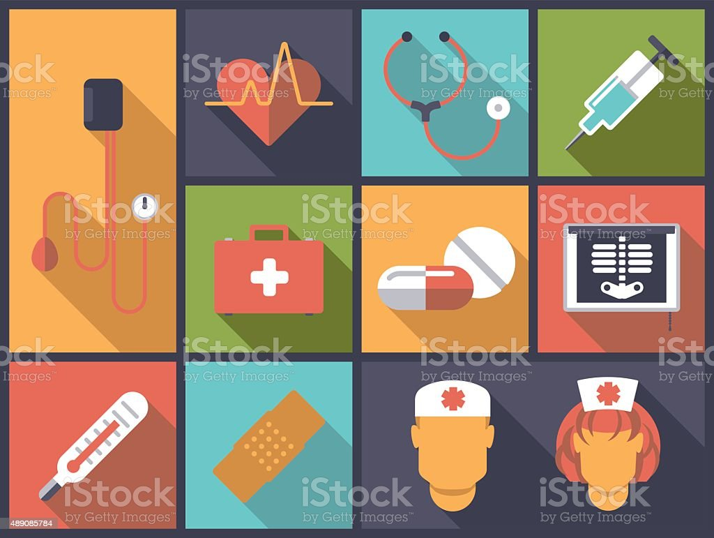 Medicine and healthcare vector illustration vector art illustration