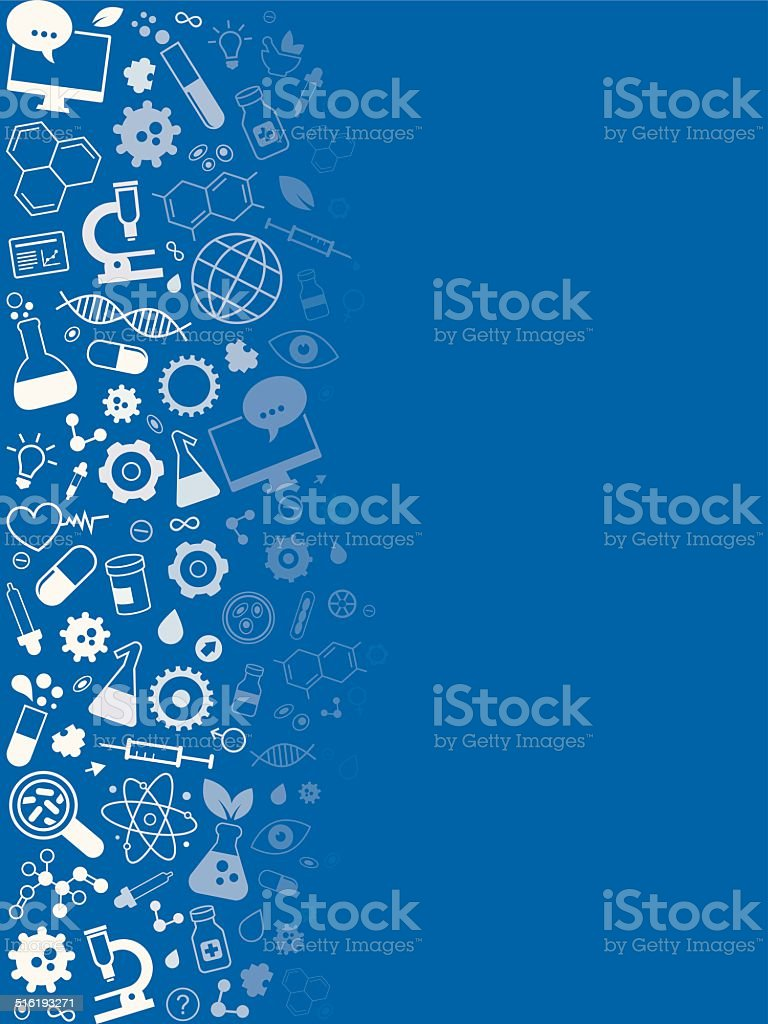 Medicine And Science Research Vertical Background vector art illustration