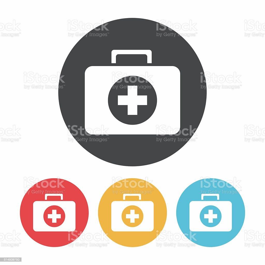 Medicine boxes icon vector art illustration