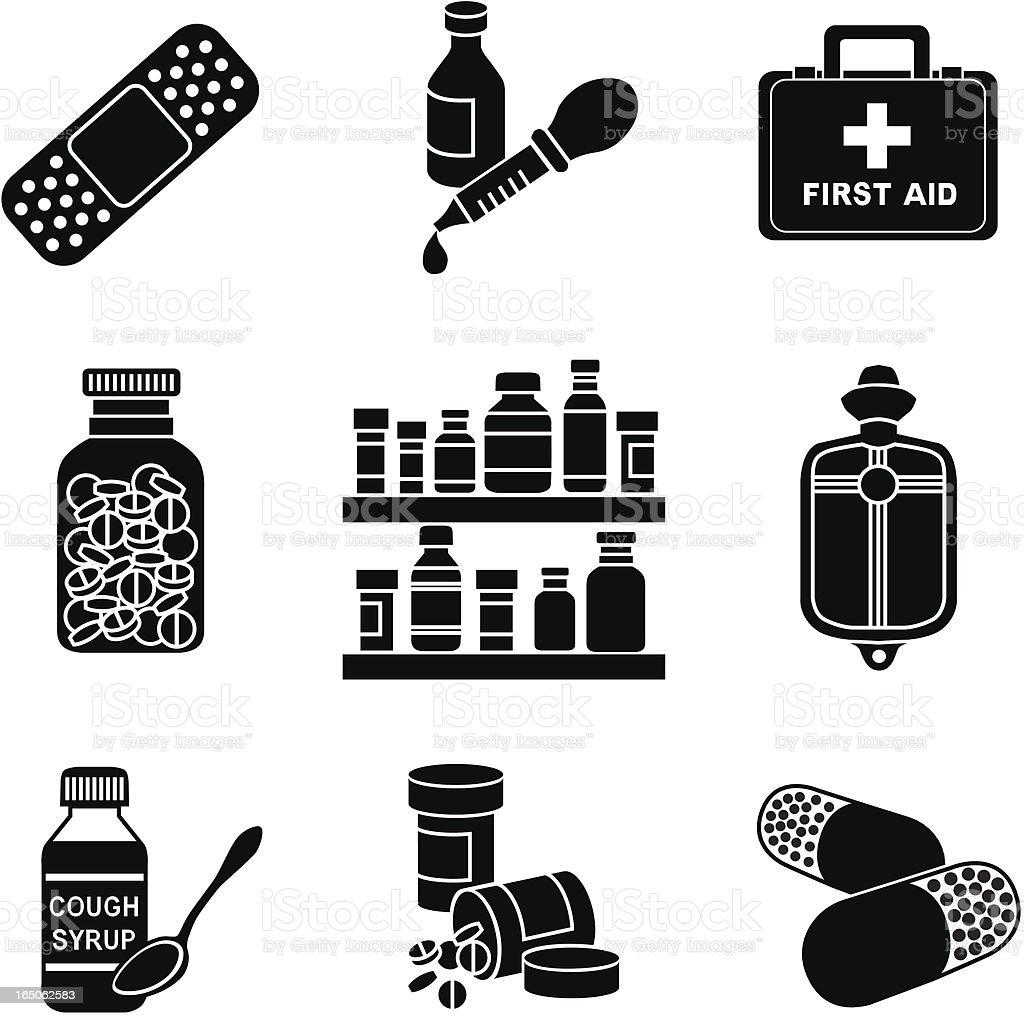 medicine cabinet royalty-free stock vector art