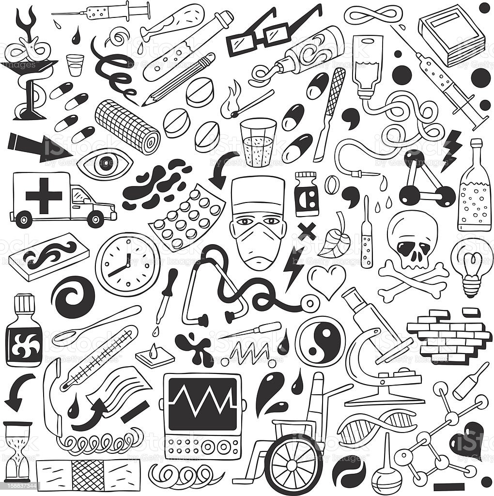 Medicine - doodles collection royalty-free stock vector art