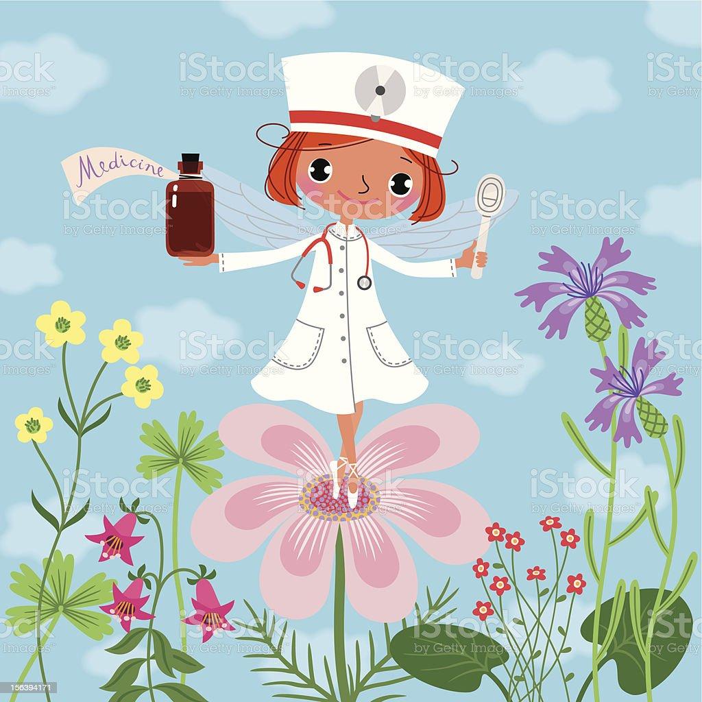 Medicine Fairy. vector art illustration